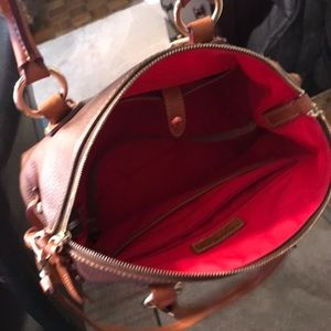 Dooney and bourke pebbled leather Bristol satchel